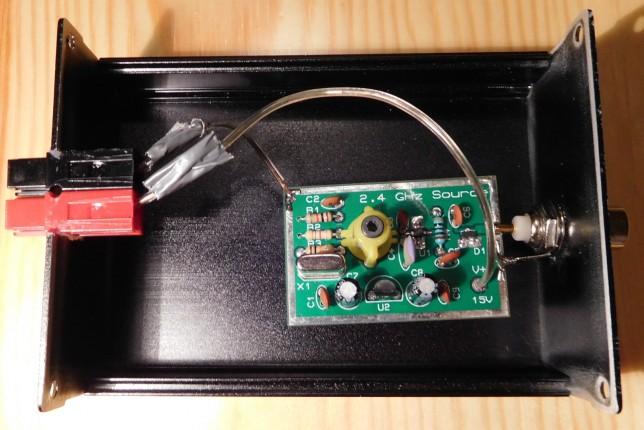 G0MRF comb generator: case open