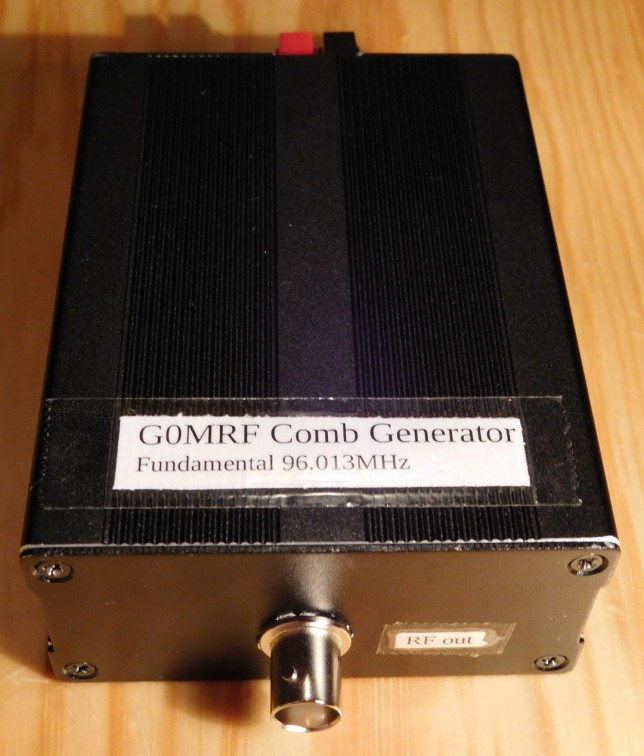 G0MRF comb generator: case closed