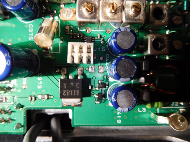 Fuse F1002 removed