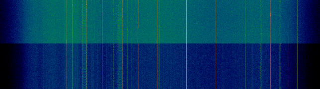11699MHz H pol, during a hailstorm (above) and just after the storm (below)