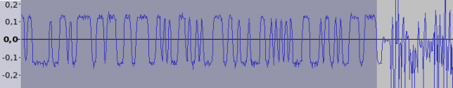 End of the packet (FM demodulated signal)