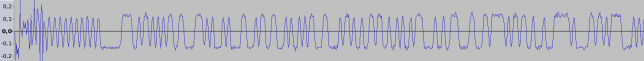 Preamble, syncword and start of data (FM demodulated signal)